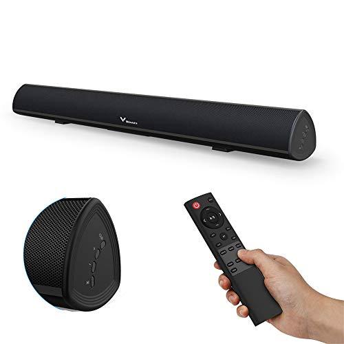 Winnes Barra de Sonido Altavoz Bluetooth 5.0 TV con Mando a Distancia Hi-Fi TV Audio Home Theater Speaker Subwoofer Integrado Sonido Surround Audio Se Puede Montar en la Pared