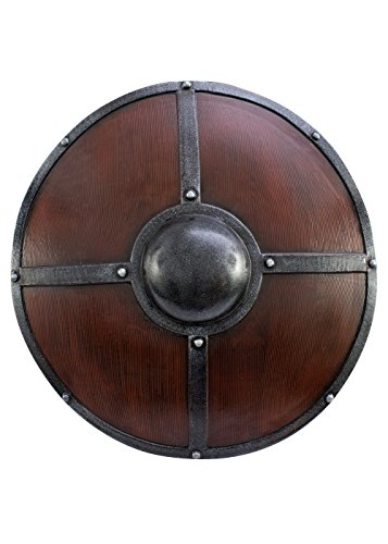Schild mit Eisenbeschlägen aus Schaumstoff Rundschild Schild LARP Ritter Schild Mittelalter Wikinger