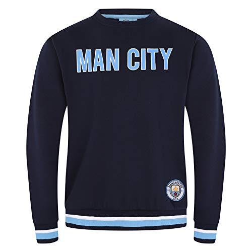 Manchester City FC - Herren Sweatshirt mit Vereinswappen - Offizielles Merchandise - Geschenk für Fußballfans - L
