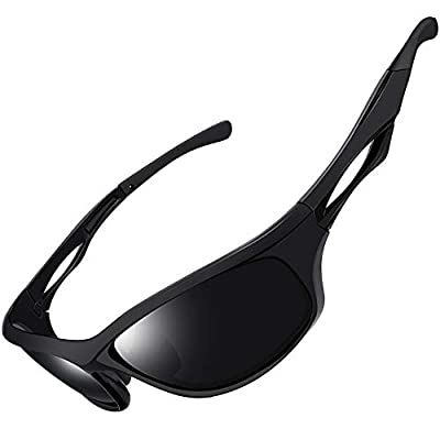 Joopin Polarized Sport Sunglasses for Men Women UV400 Protection Sports Sun Glasses Shades (Matte Black)