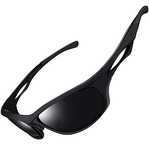 Joopin Sportbrille Herren/Damen Polarisierte Sonnenbrille Angelbrille Fahrerbrille mit UV Schutz 400