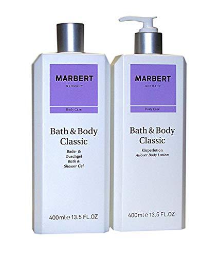 Marbert CLASSIC Pflegeset: Bade & Duschgel 400 ml unboxed + Körperlotion 400 ml unboxed