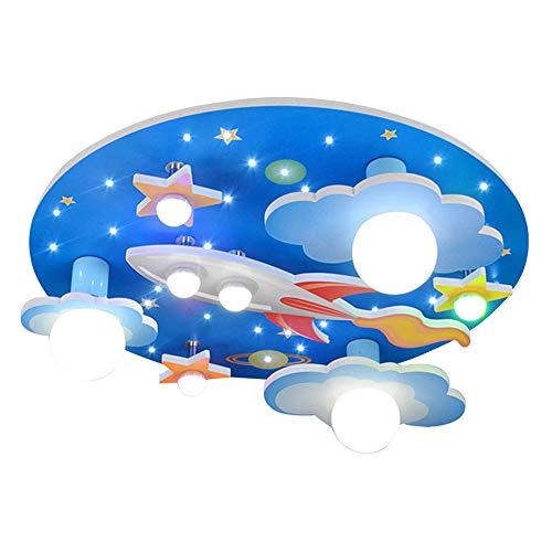 COCOL Lámpara de techo en el cuarto de niños universo estrellas habitación niños lámpara de techo con LED luz blanca entorno dormitorio para niños y niñas cartoon 610 * 610 * 190mm
