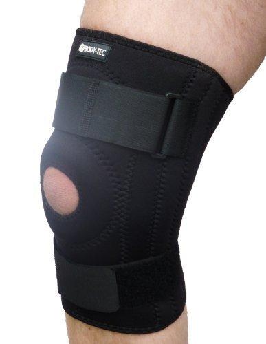 Adjustable neoprene knee support (Large 38-40.5cm) by Body-Tec
