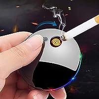 PLUY USB充電ライター、安全性と環境保護、無炎、エレガントな滑らかなデザイン、シガーキャンドルシガレット用防風(カラー:A)