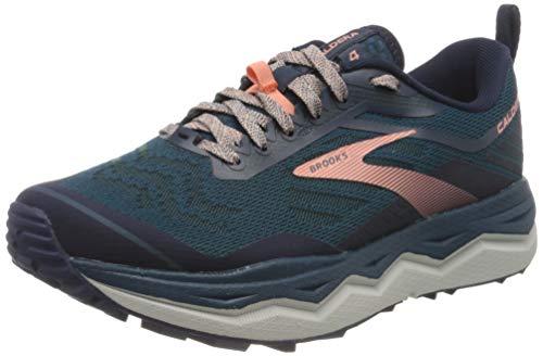 Brooks Women's Caldera 4 Running Shoe, Blue/Peacoat/Desert Flower, 8 UK