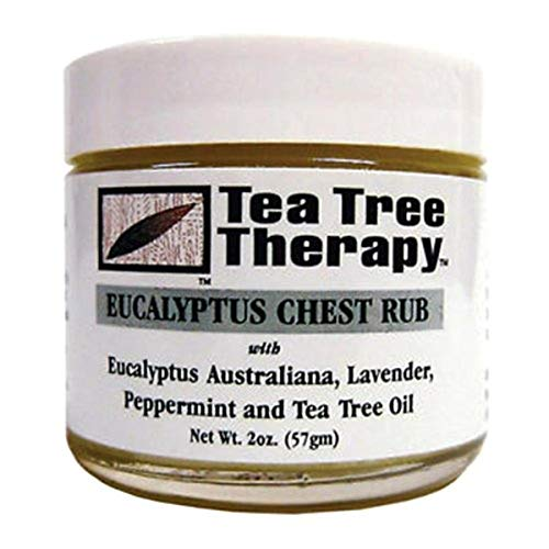 Tea Tree Therapy Eucalyptus Australian Chest Oil, Lavender Peppermint and Tea Tree, 2 Ounce