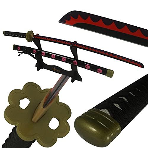 AUXIER One Piece Sword Katana Swords Real Anime Sword,Bamboo Zoro Sword Enma Cosplay Sword,Prop Katana Sword Wado Ichimonji Sword/Kitetsu Sword/Yubashiri Sword/Shusui Sword
