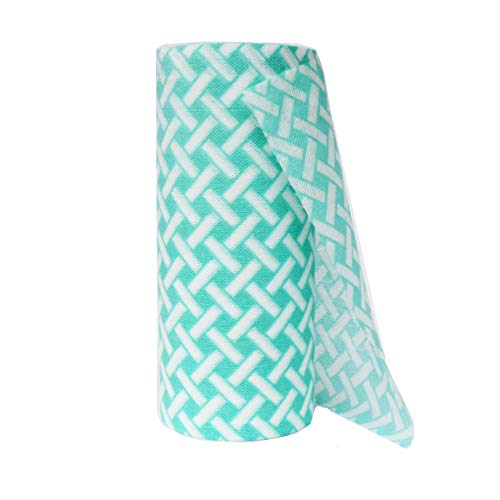 JEBBLAS Disposable Cleaning Towels Dish Towels and Dish Cloths Reusable Towels,Thick Handy Cleaning Wipes Quick-Dry 90 Count/Roll,Green
