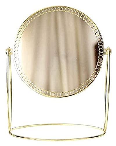 Linjolly Espejo de aderezo de Espejo pequeño,Espejo de tocador Grande con Soporte,Espejo de tocador con Luces magnificadas Mejor for baño o Dormitorio Mesa de Mesa de Belleza Espejo de Maquillaje