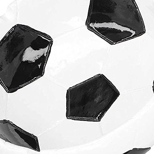 YuKeShop Cenicero con textura transparente y uniforme, 12 x 15 x 3,7 cm, para amantes del fútbol y adultos
