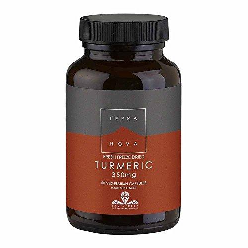 Terranova Turmeric Root, Fresh Freeze Dried, 350mg, 50 Vegetarian Capsules