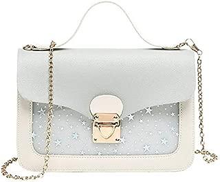 TOOGOO Fashion Bag Girl Sequins Star Print Shoulder Bag Chain Handbag Messenger Bag Ladies Gray