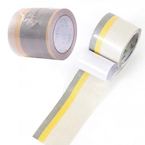 Smavles Zelt Klebeband 2 Rollen Zelt Reparaturband Gewebeklebeband Wasserdicht Geeignet für Flicken Zelt Markisen (5cm,10cm)