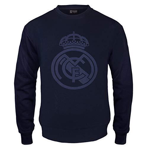 Real Madrid - Sudadera Oficial para Hombre - con el Escudo del Club - XL