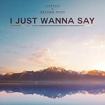 I Just Wanna Say