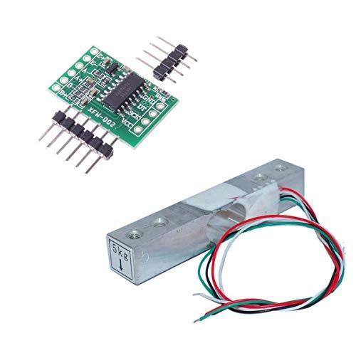 Aihasd Cella di carico Digitale Sensore di Peso 5KG Scala di Cucina Elettronica Portatile + HX711 Sensori di pesatura Modulo Ad per Arduino