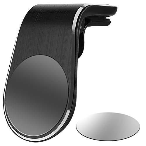 ihreesy Soporte magnético universal para teléfono móvil, soporte magnético compatible con iPhone 12 11 Pro XS Max XR X 8 Plus Galaxy S10, negro, no giratorio
