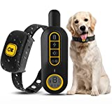 KOSPET Dog Training Collar,Remote & Auto 2 in 1 Rechargeable Anti Barking Collar,7 Adjustable Sensitivity and 8 Intensity Levels for Small Medium Large Dogs