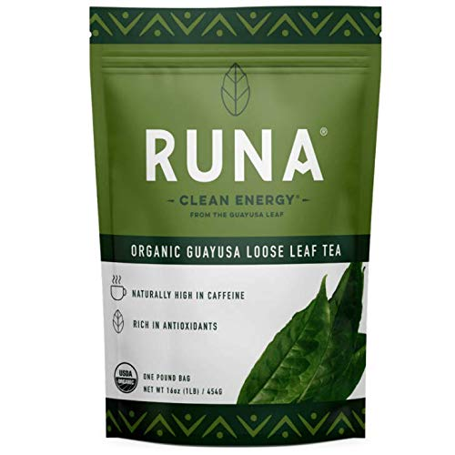 Organic Guayusa Loose Leaf Tea by RUNA, 1 Pound (16oz) | Packed with Natural Caffeine for Clean Energy | Alternative to Yerba Mate, Coffee, and Green Tea