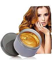 Kolor Unisex Kolor wlosów Wax Temporary Hair Styling Cream Mud Natural Fryzura DIY wlosów Wosk do farbowania wlosów krem ??do Party Cosplay Idealne na czesanie wlosów 1szt (szary)