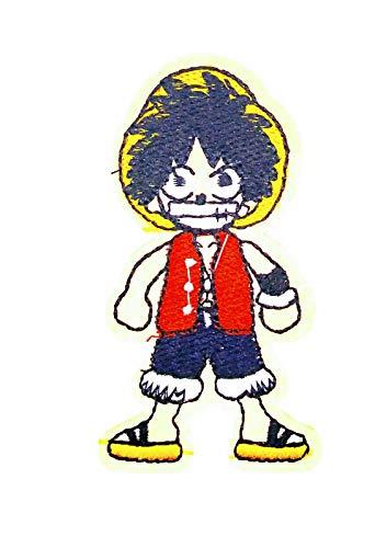Parche Termoadhesivo Monkey D.Luffy One Piece 8x4 cm