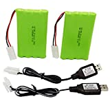 Blomiky 2 Pack 9.6V 2000mAH NiMH Rechargeable AA...