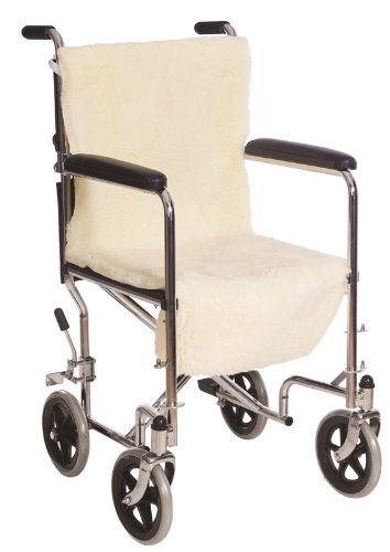 Essential Medical Supply Sheepette Wheelchair Comfort Cover for Seat and Back