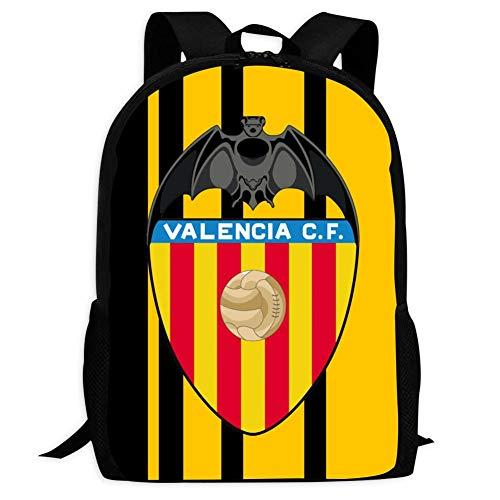 WLERA Valencia Club de Futbol Logo Cute mochila escolar bolsa libro para niños niñas Negro Negro talla única
