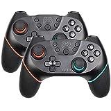 コントローラー 複数の選択肢のBluetoothワイヤレスプロコントローラリモートゲームパッドコンソール用PC Controleジョイスティック SYMJP (Color : 2pc Red, Size : 1)