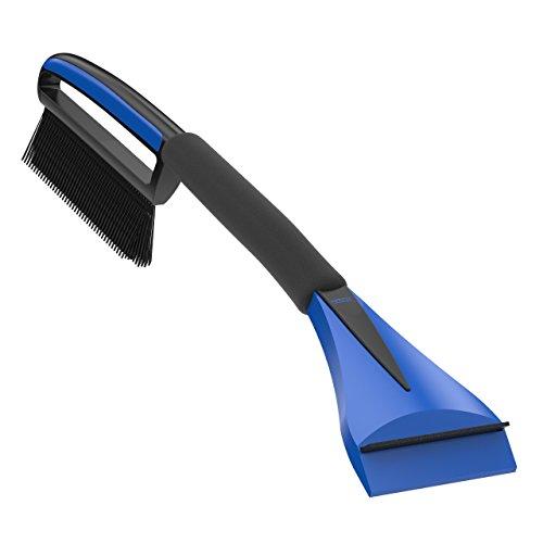 AUPROTEC Auto Schneebesen mit Eiskratzer 2in1 mit Komfort Soft Griff rutschfest ASE 1 schwarz-blau