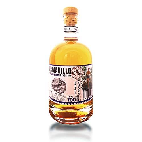 Armadillo French Oak, Pure Single Barrel Rum, 40{3a56b990a839bac30a8179b764d8f3e7f00b572be932fa91ebb01d9f1850ca31} Alkohol, handgefertigt aus Paraguay, gereift auf natürlicher Eiche, Craft-Rum, ohne Zusatzstoffe (1 x 0.7 l)