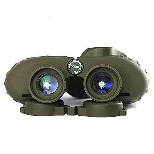 WSHA Binoculares Poderoso Ejército Ruso 7X50 / 10X50 Telescopio Marino Brújula Digital Caza Observación De Vida Salvaje Eventos Deportivos,10X50