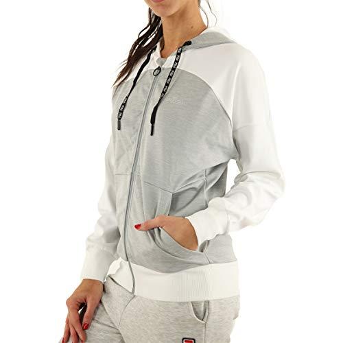 Fila – Aceline Light Grey – kurtka z kapturem z zamkiem błyskawicznym rozm. 32, szara