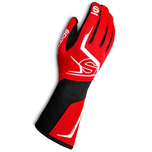 Sparco Tide Racing Gloves 001356 (Size: 10, Red/Black)