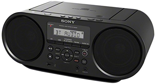 Sony ZS-RS60BT 4 W Negro – Radio CD (Am,FM, 87.5-108 MHz, 530-1710 kHz, 4 W, LCD, Negro)