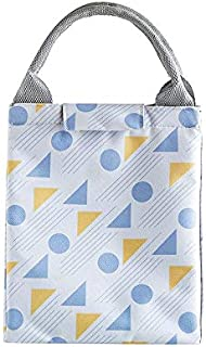 Hook&loopPortable Oxford Cloth Bento Box Food Thermal Bag Insulated Lunch Bag Multifunction Storage Cooler Bag, 4#
