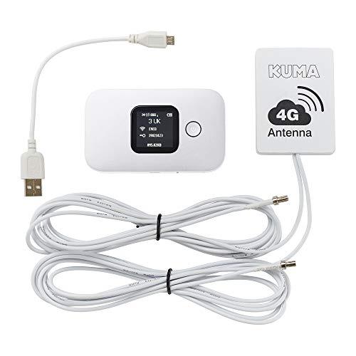 KUMA Portatile 4G Wifi Router con SIM Kit – Saponetta LTE Hotspot Mobile Internet con Lungo Raggio Antenna – Wireless Pocket Hot Spot Wi-Fi – Ricaricabile Webpocket per Camper Caravan Barca Casa