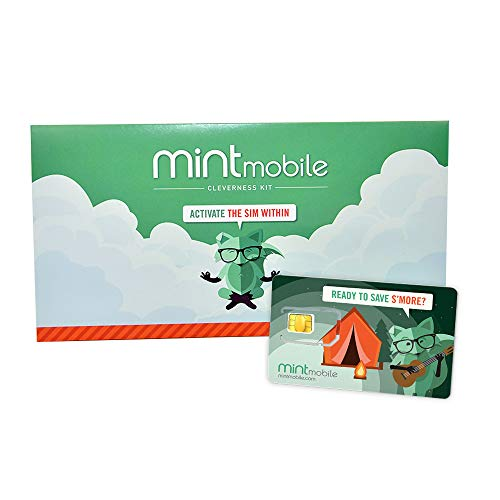 $25/Month Mint Mobile Wireless Plan | 15GB of 5G • 4G LTE Data + Unlimited Talk & Text for 3 Months (3-in-1 GSM SIM Card)