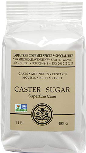 India Tree Caster Sugar, 1 Pound (Pack of 6)