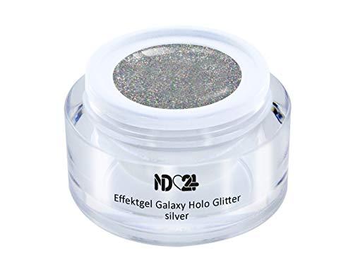 Uv Led Effekt-Gel Galaxy Holo Glitter Silver - Silber - Studio Qualität - Made In Germany - 5ml