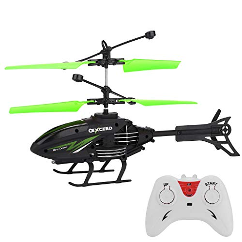 BAAS Kids Flying Toys RC Helicopters, Remote Control Infrared Induction Mini Helicopter with 2 Channel Gyro Alloy Festival Gifts for Children & Adult Micro RC Drone Toy Red Green Yellow