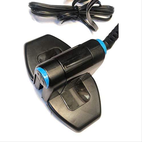 Guoo Strijkmachine, 60 watt, voor thuis, draagbare anti-hot waterdicht, voor op reis, opvouwbaar, mini-strijkijzer, snel warmte, strijkijzer, zwart