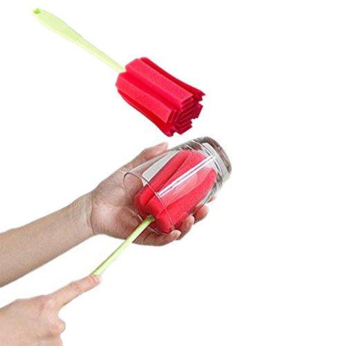 MyVigor Sponge Glazen Fles en Cup Sponge Reinigingsborstel (groen) Eenvoudige + Duurzame Groene Handvat Sponge Flespenseel Reinigingsborstel voor Bekers, Glas, Alle grootte Flessen, Flasks, Wijnglas, Baby Melkflessenborstel, Glazen Mok en meer.. Handige praktische multifunctionele keuken THICK Sponge Brush voor flessen gereedschap ideaal voor flessen glas of oppervlaktereiniger. Schoon, veilig voor gemak en gemoedsrust. Zie andere kleuren flespenseel beschikbaar en gewoon toevoegen aan mandje.