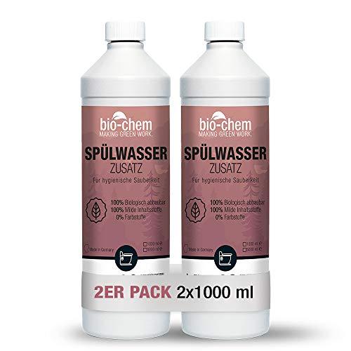 Bio-Chem Bio Spülwasser-Zusatz WC-Reiniger Rinse Flush für Camping-Toilette, Chemietoilette und Mobile Toilette, Konzentrat 2X 1 Liter