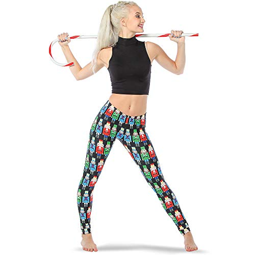 Alexandra Collection Womens Christmas Holiday Nutcracker Athletic Activewear Leggings