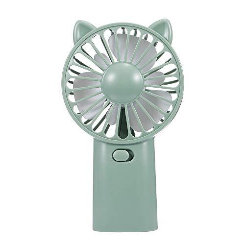 Docooler Ventilador com ventilador mini ventilador USB Ventilador com ventilador legal verão recarregável (verde)