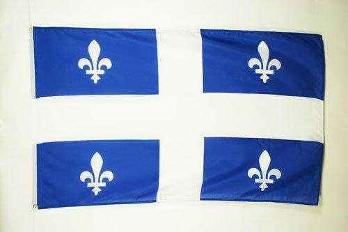 AZ FLAG Drapeau Québec 150x90cm - Drapeau québécois - Canada 90 x 150 cm - Drapeaux