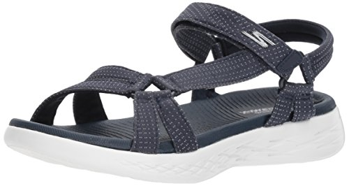 Skechers Performance Women's on-the-Go 600-Brilliancy Sport Sandal, navy, 9 M US