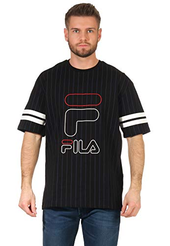 Fila JAMIRO Striped Sporty Camiseta, Negro, M para Hombre